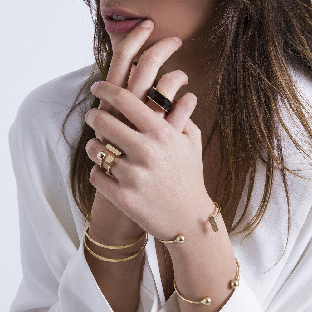צמיד נויה, צמיד כדורים פתוח, טבעת עזריאליף טבעת מיכאלה יהלום, צמיד חיתוכים פתוח_1