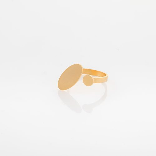 תמונת מוצר טבעת קלאסית פתוחה בציפוי זהב