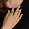 טבעת צמה כסף