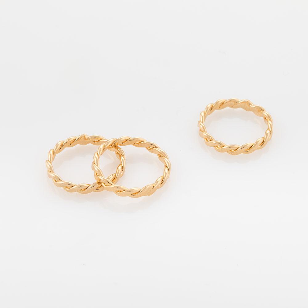 טבעת צמה זהב