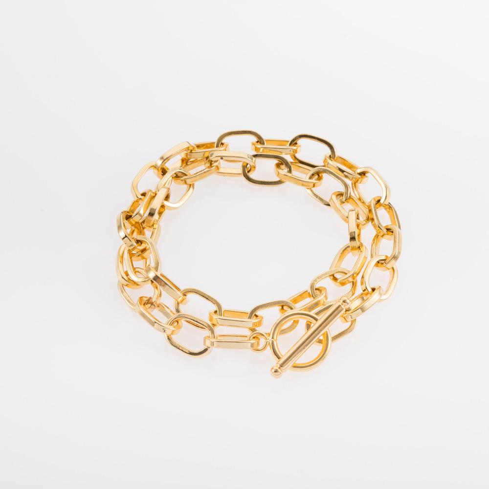 צמיד חוליות עדין מלופף בצבע זהב או כסף