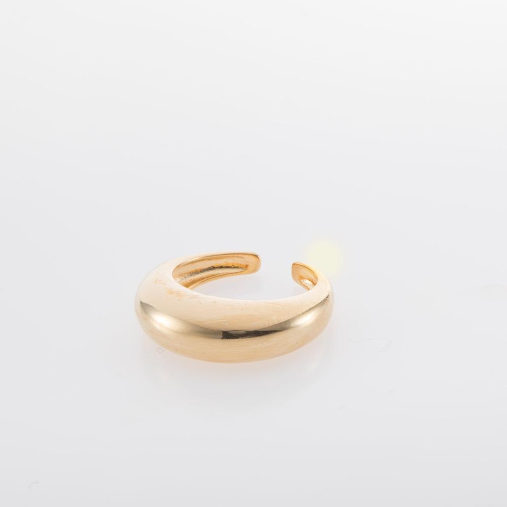 טבעת עבה פתוחה זהב או כסף
