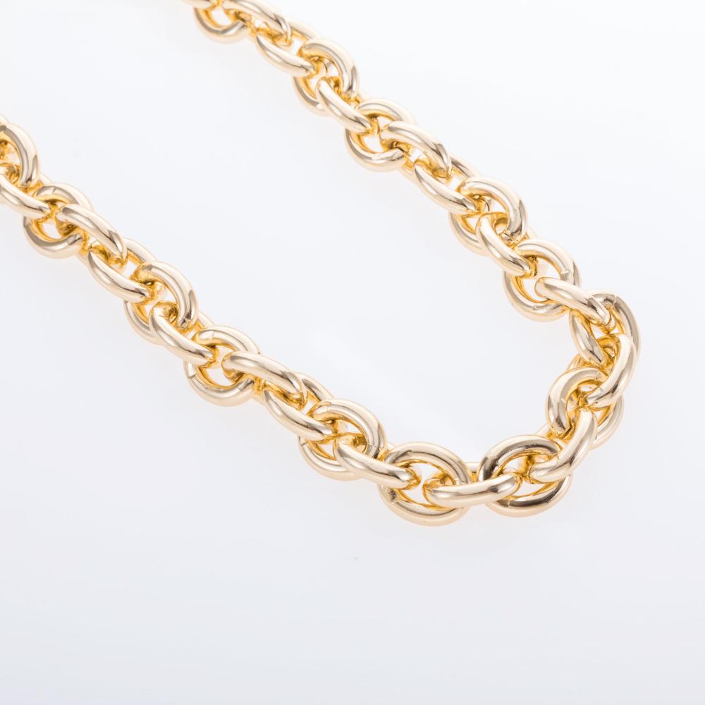 שרשרת לולאות גדולה זהב