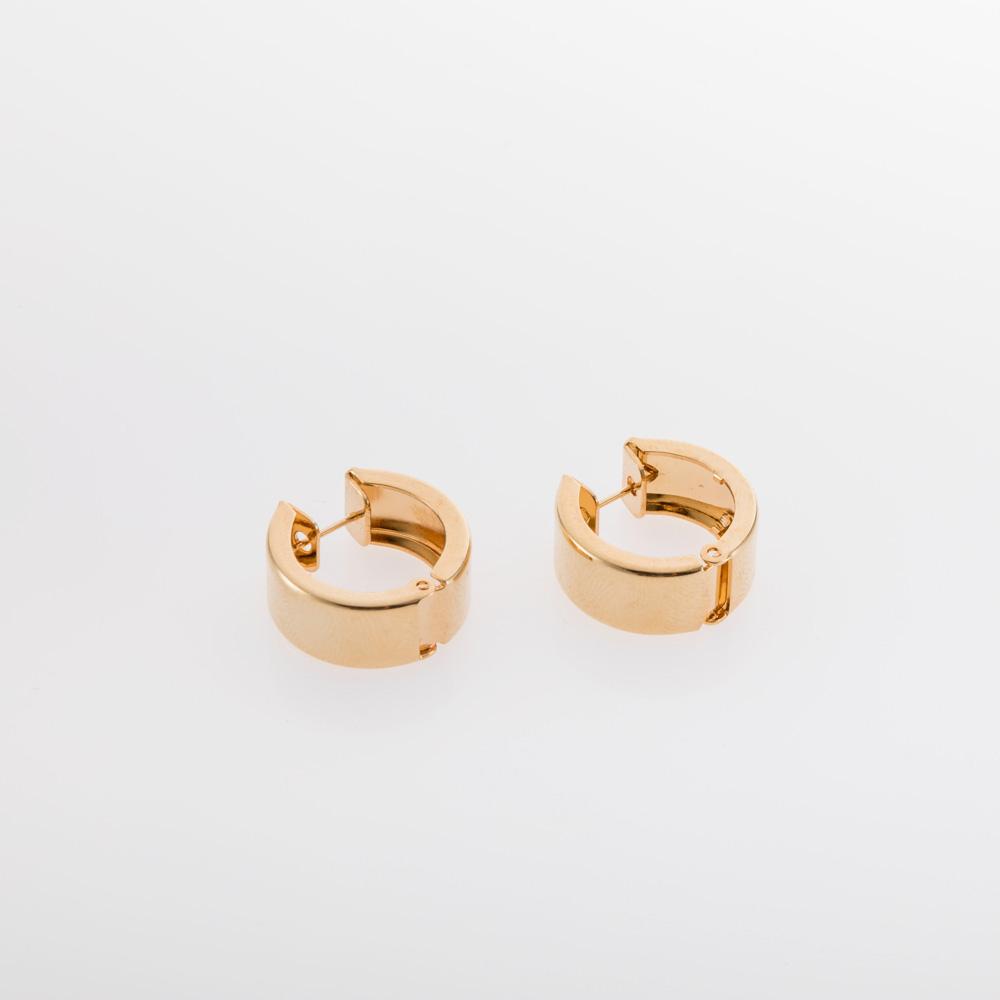 עגילי חישוק שמנים קליפס זהב