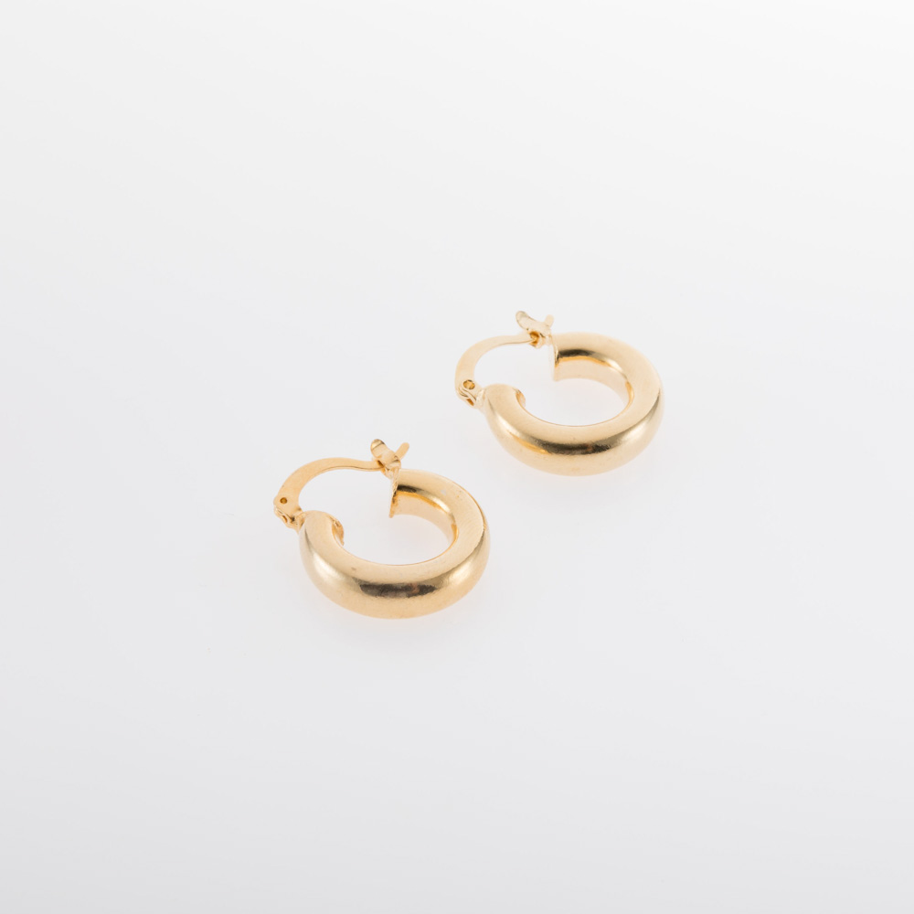 עגילי חישוק קטנים זהב