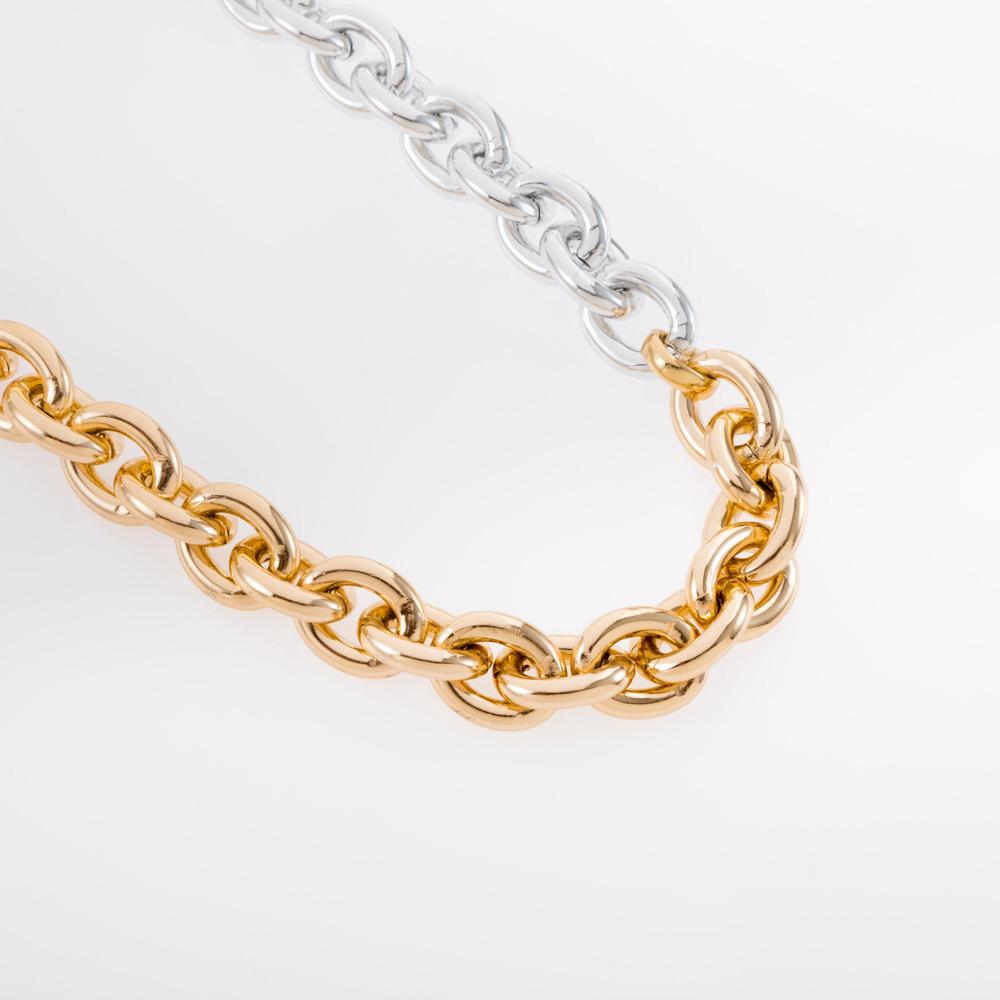 שרשרת לולאות משולבת זהב וכסף