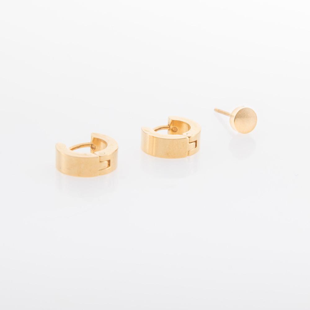 סט עגילי זהב צמודים