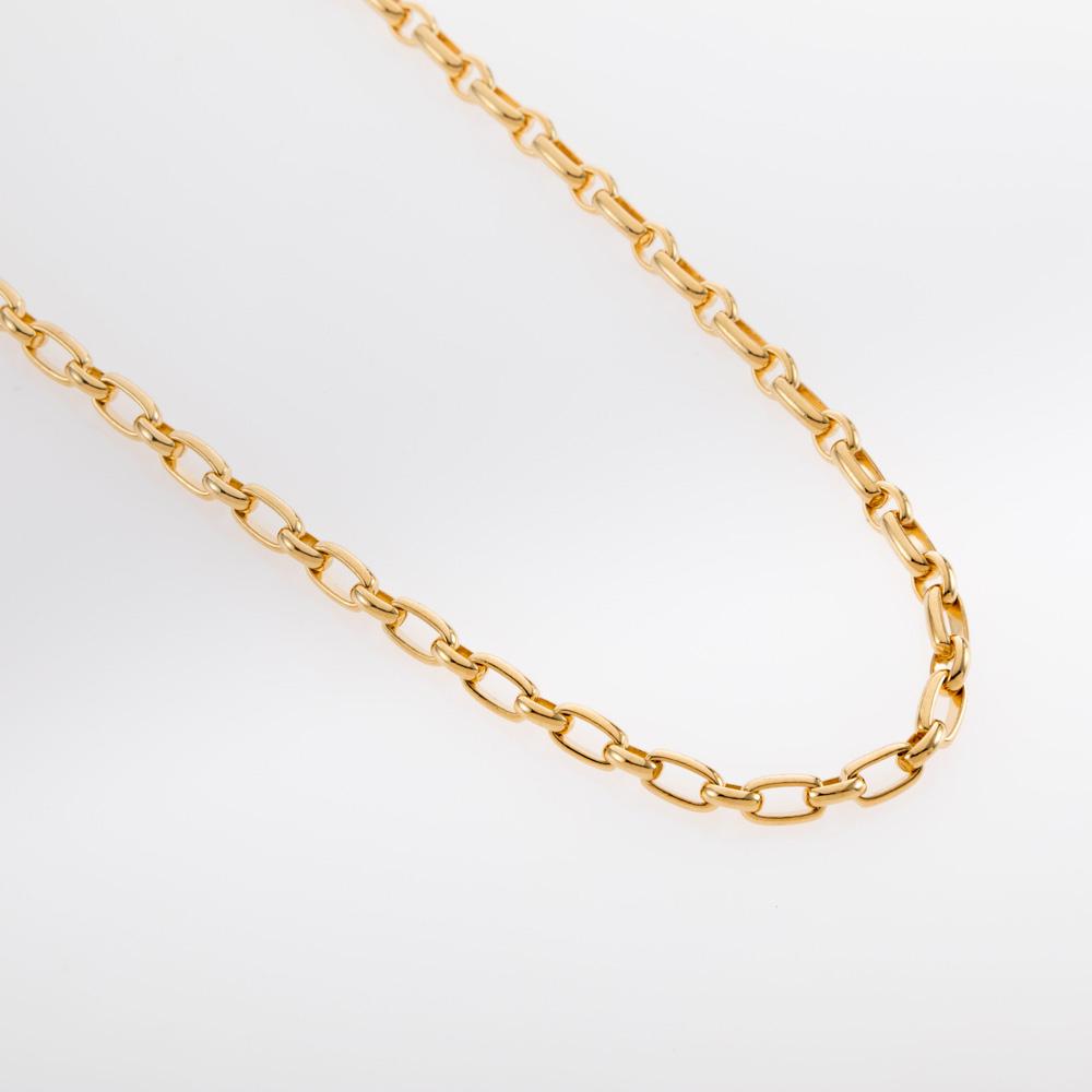 שרשרת חוליות אובליות קטנות זהב