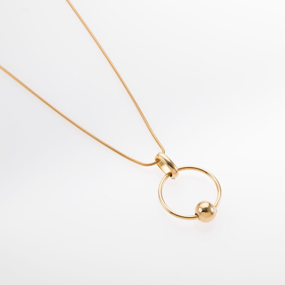שרשרת זהב עם תליון עיגול