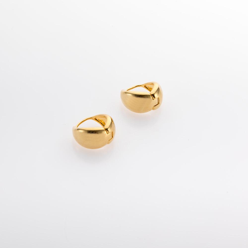 עגילי חישוק טיפה קטנים זהב