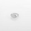 טבעת חותם משובצת זהב אבן שקופה